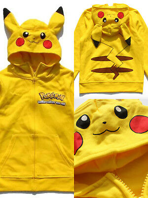 AUTHENTIC Boys Pokemon Sweatshirt Pikachu Hoodie S M L XL Size 5 to 18 years