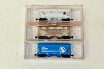 3 x Athearn N Scale Great Northern Twin Bay Covered Hoppers