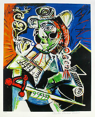 Pablo Picasso CAVALIER WITH PIPE Estate Signed & Stamped Limited Edition Giclee