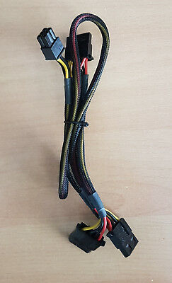 6 Pin PCI Express Power Adapter Cable to 3 x Molex LP4 Lead