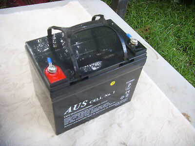 33ah 12v AGM Deep Cycle Sealed Battery Buggy Scooter Solar