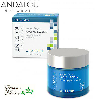Andalou Naturals Clear Skin Lemon Sugar Facial Scrub - For Oily Skin SALE!!