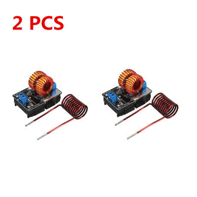 2 PCS 5V-12V Low Voltage ZVS Induction Heating Power Supply Module + Coil Lot AN
