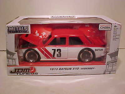 4 pack of 1973 Datsun 510 Widebody Diecast Car 1:24 JDM TUNERS Jada Toys 7 inch