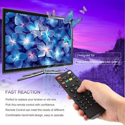 Replacement Remote Control Controller Black for MXQ V88 T95 X96 Android TV GA
