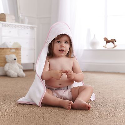 New Clair De Lune Speckles Pink Baby Girls Luxury Soft Hooded Bath Time Towel