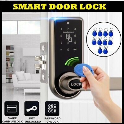 Smart Code Door Lock Keypad Card Intelligent Digital Keyless Security + 10 Tags