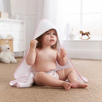 New Clair De Lune Star Pink Baby Girls Luxury Soft Hooded Bath Time Towel