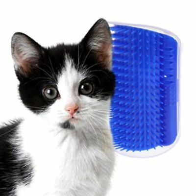 Pet Cat Self Groomer Brush Wall Corner Trimming Massage Comb Toy With Catnip