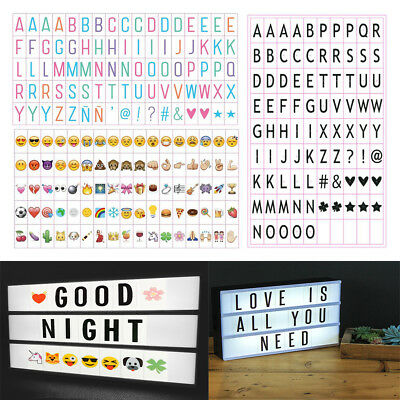 Emoji Letters FOR A4 CINEMATIC Light Up Sign Cinema LED Lightbox Home Decoration