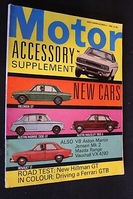 Magazine Motor Accessory Supplement #october 4 1969 (English)