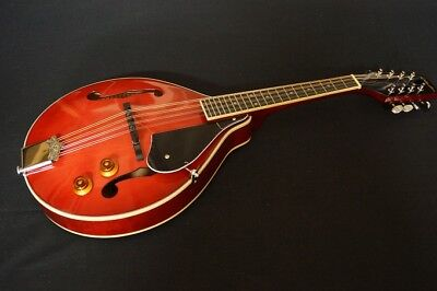 Delta Blue A Style Electric Mandolin - Trans Red