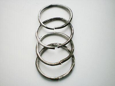 ANCIENT RARE Authentic Viking Female Jewelry Silver RINGS  8 - 9 century AD