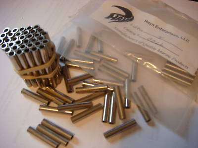 """2- Conversion Sleeve from 3/6"""" to 1/8"""" 316 Chrome over Brass Brand New"""