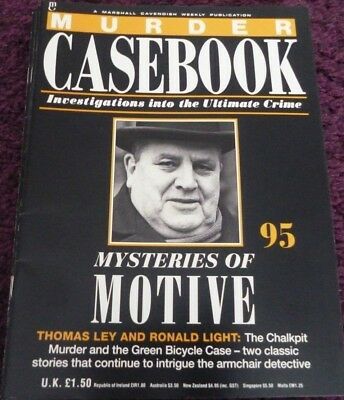 Murder Casebook Magazine*true Crime*#95*the Green Bicycle Case*chalkpit Murder