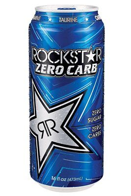 Rockstar Zero Carb Energy Drink, 16-Ounce Cans Pack of 24