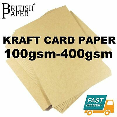 A3 A4 A5 Brown Kraft Card Blanks Stock Paper Recycled Craft Making Weddings Tags