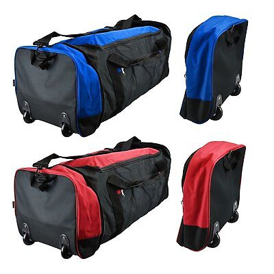 Large Folding Cabin Trolley Sports Luggage Bag Holdall Overnight Travel Wheeled