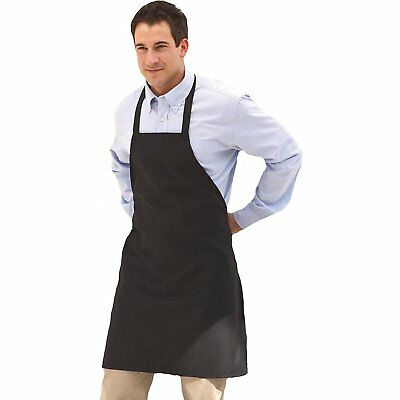 """Uncommon Threads """"Mid-Length Bib"""" Apron in White - One Size"""