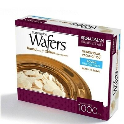 Brand New -Communion Wafers Round Unleavened -Box Of 1000 Pieces