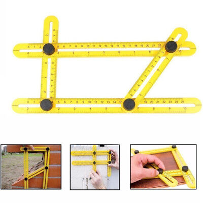 Angle Measuring Template Multi-Angle Ruler Layout Tool Protractor Four Sided