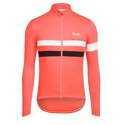 Rapha Coral Long Sleeve Brevet Jersey. Size Large. BNWT.
