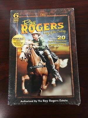 Roy Rogers: King of the Cowboys (DVD, 2010, 6-Disc Set) Brand New Sealed Bonus