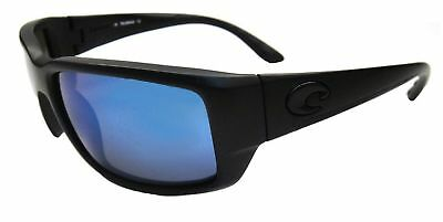 508c55a154 Costa Del Mar Fantail Sunglasses Black Frame With Blue Mirror 580 Lens  TF11OBMP