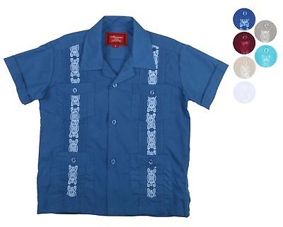 9 Crowns Essentials Boys' Guayabera Button Down Shirt