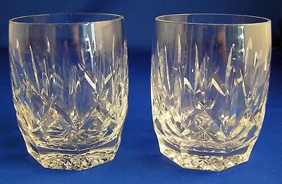 """2~Sparkling Waterford """"WESTHAMPTON"""" DOF Double Old Fashion Rocks Glasses 4"""""""