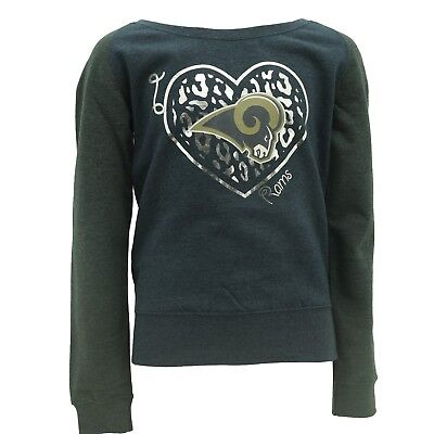 Los Angeles Rams Youth Size NFL Official Girls Long Sleeve Sweatshirt New e91fe98cc