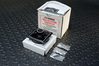 Omega OSW3-4, 4 Position Thermocouple Selector Switch w/Hardware - New