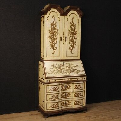 Trumeau lacquered secretary desk cupboard fore furniture wooden golden