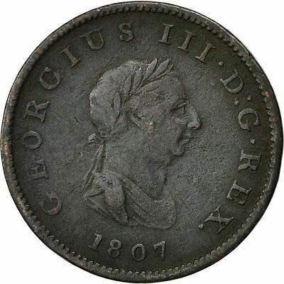 [#492091] Coin, Great Britain, George III, 1/2 Penny, 1807, VF(30-35), Copper