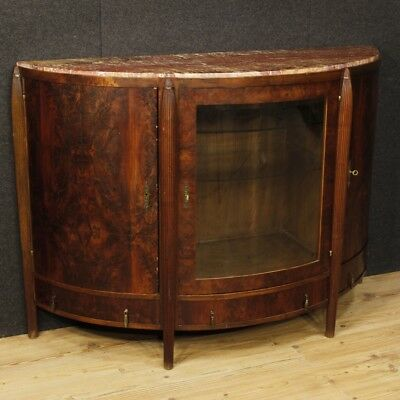 Cupboard commode marble dresser Art Deco chest of drawers wood mahogany antique