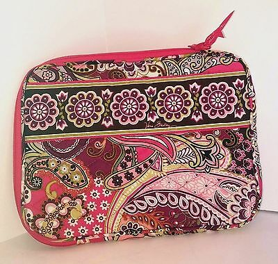 Vera Bradley Very Berry Paisley Notebook Case Tablet Sleeve Soft Side NEW