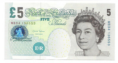 GREAT BRITAIN GROSSBRITANIEN 5 Pounds ©2002 UNC P391d