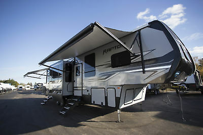 Prices Slashed on this New 2018 Keystone Raptor 355TS Fifth Wheel Toy Hauler RV