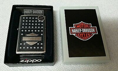 Zippo 28482, Harley Davidson Rivets Lighter, Street Chrome USA Genuine Windproof