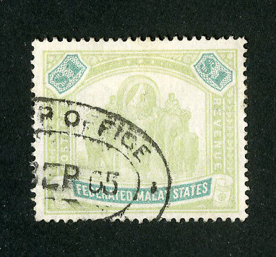 Malaya Stamps # 14 XF Used Scott Value $200.00