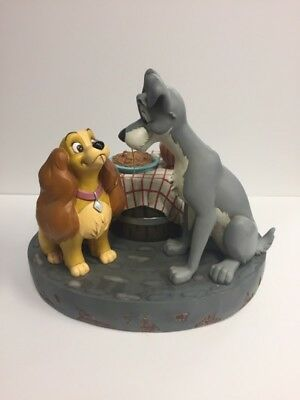 DISNEY Collectible GLOBE LADY AND THE TRAMP SNOW GLOBE (EPJ004975)