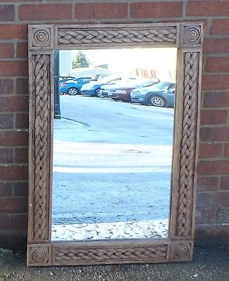 Georgian antique Classical style carved siolid hardwood wall hall pier mirror