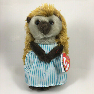 "TY Beanie Baby 6"" MRS TIGGY WINKLE Animal Plush MWMT's (Peter Rabbit Movie) 2018"