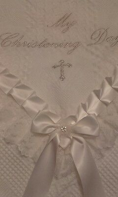 beautiful IVORY bebo baby christening/baptism shawl **NEW**