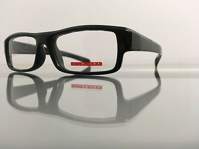 PRADA EYEGLASSES FRAMES Sport Brown VPS 04D 55-16-140 UTF-1O1 New ...