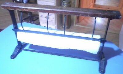 """Vintage 18"""" Butcher Paper Cutter General Store Wrapping Empeco Brand"""