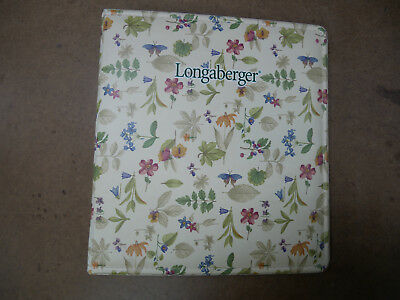 Longaberger Consultant Botanical Fields Notebook AccessoriesExcellent Condition