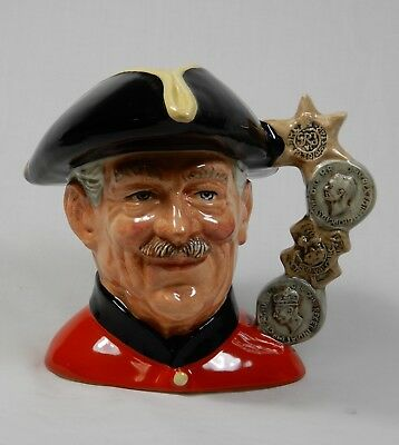 Chelsea Pensioner D 6817 Royal Doulton Limited Edition Toby Jug Character 1988