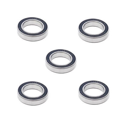 5x 6802 2RS Rubber Sealed Deep Groove Ball Bearings - 15x24x5 mm