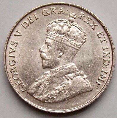1922 Canada 5 Cent Canadian Nickel Coin - George V - Nice Grade